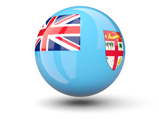 Round icon of flag of fiji