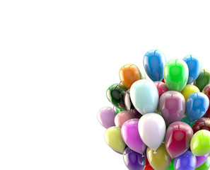 Multicolored balloons in conjunction