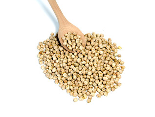 chickpeas and spoon
