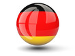 canvas print picture - Round icon of flag of germany