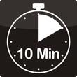 Leinwandbild Motiv Uhrzeit mit 10 Minuten
