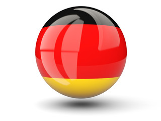 Round icon of flag of germany