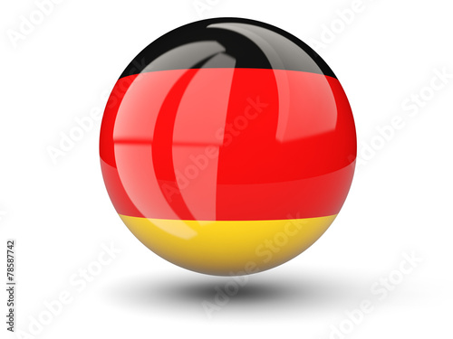 canvas print picture Round icon of flag of germany