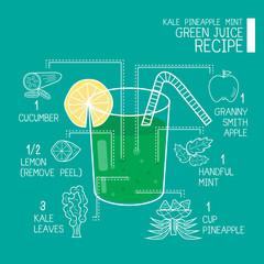 Green juice recipes great  detoxifier