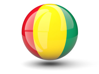 Round icon of flag of guinea