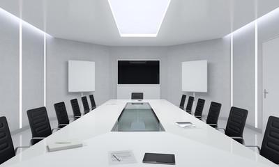 Modern Meeting Room Interior.