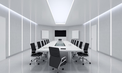 Modern Meeting Room Interior.