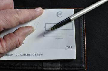Payer par chèque bancaire