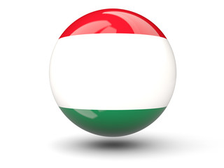 Round icon of flag of hungary