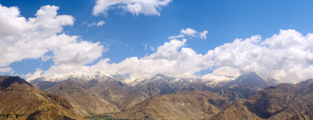 Himalayas mountains panorama in Lhasa surroundings, Tibet