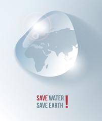 Save water, drop