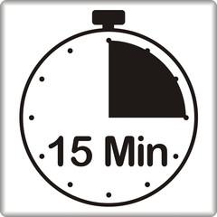Uhr mit 15 Minuten