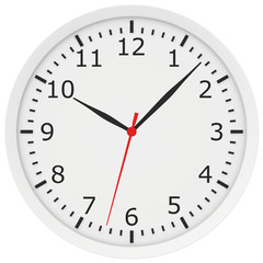 clock with arrows and numbers.