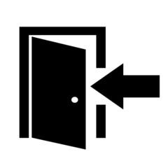 Enter door sign