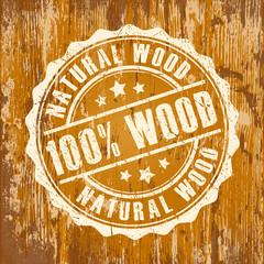Natural wood stamp