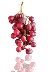 Grappolo d'uva con riflesso, soggetto isolato sfondo bianco
