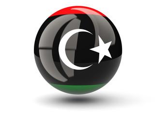 Round icon of flag of libya