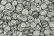 Leinwandbild Motiv granular silver metal abstract background