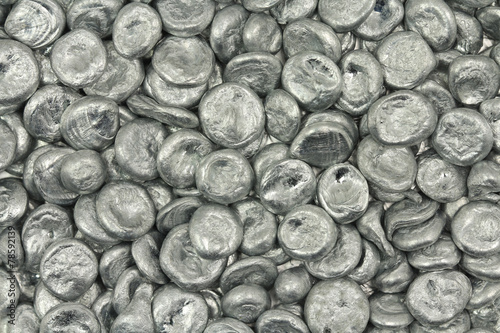 granular silver metal abstract background