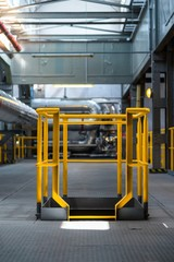 Yellow industrial frame
