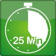 canvas print picture - Uhr mit 25 Minuten
