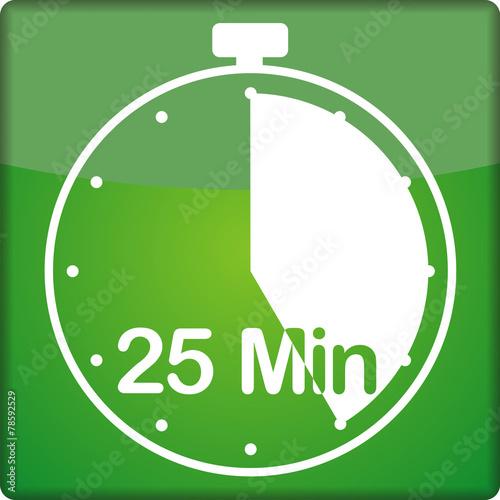 canvas print picture Uhr mit 25 Minuten