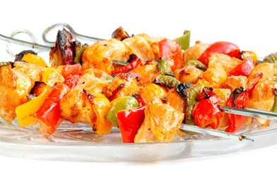 Delicious chicken tikka with capsicum and onion