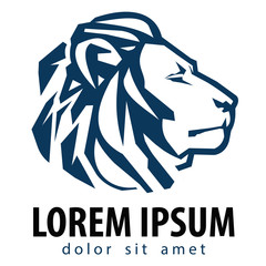lion vector logo design template. company or business icon.