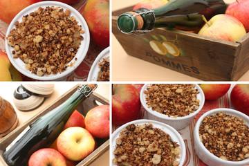 Crumble aux Pommes - Cidre Fermier