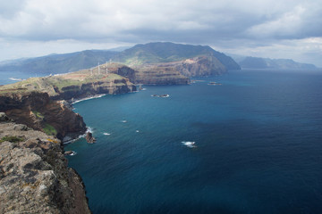 view from Ponta do Rosto, Madeira, Portugal, Europe