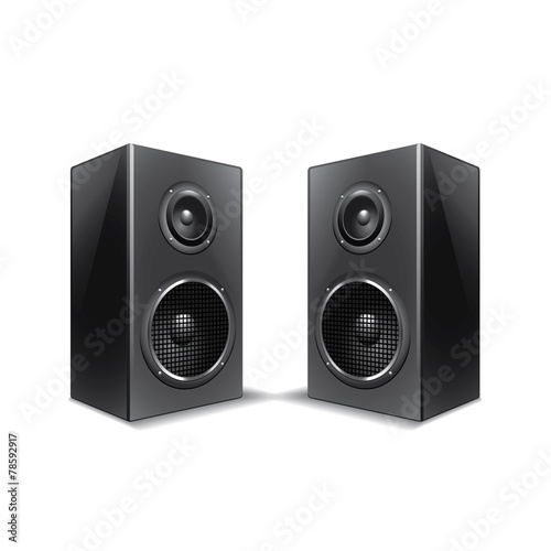 Speakers isolated on white vector - 78592917