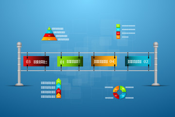 Timeline and options infographic.