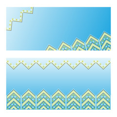 Set of Ethnic ornament pattern. Vector illustration