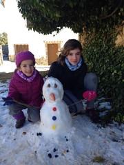 Muñeco de nieve en las Cañadas