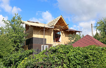 Construction of frame house
