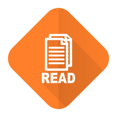 read orange flat icon