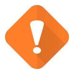 exclamation sign orange flat icon warning sign