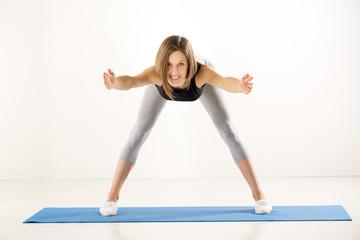 Girl Doing Exercises