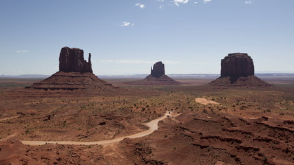 4K time lapse zoom out Monument Valley under the blue sky