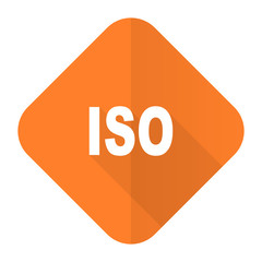 iso orange flat icon