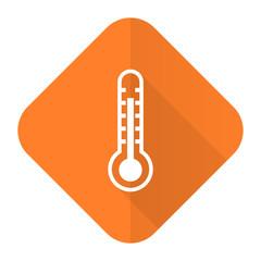 thermometer orange flat icon temperature sign