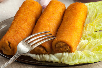 Delicious croquettes with meat.