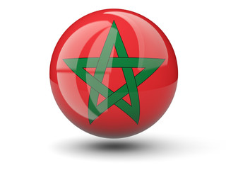 Round icon of flag of morocco