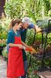 Frau macht Ausbildung zur Gärtnerin in Gärtnerei