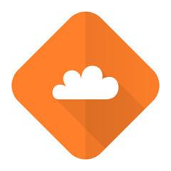 cloud orange flat icon waether forecast sign