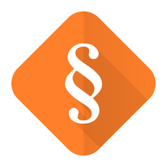 paragraph orange flat icon law sign