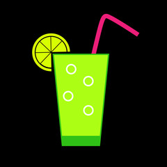 Drink Glossy Icon Vector Illustration