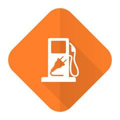 fuel orange flat icon hybrid fuel sign