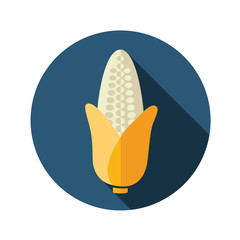 Corn flat icon with long shadow