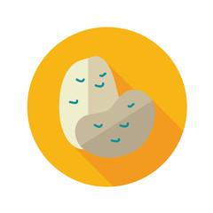 Potato flat icon with long shadow